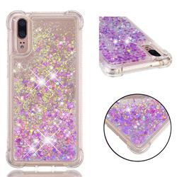 Dynamic Liquid Glitter Sand Quicksand Star TPU Case for Huawei P20 - Rose