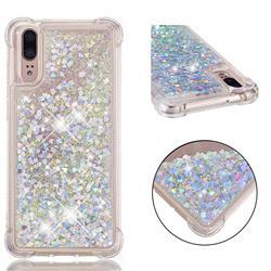 Dynamic Liquid Glitter Sand Quicksand Star TPU Case for Huawei P20 - Silver