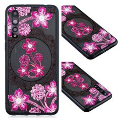 Daffodil Lace Diamond Flower Soft TPU Back Cover for Huawei P20