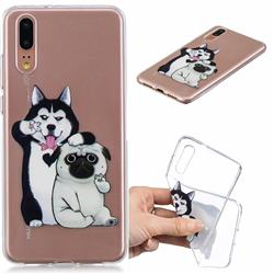 Selfie Dog Clear Varnish Soft Phone Back Cover for Huawei P20