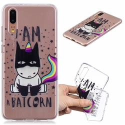 Batman Clear Varnish Soft Phone Back Cover for Huawei P20