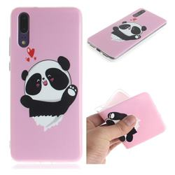 Heart Cat IMD Soft TPU Cell Phone Back Cover for Huawei P20