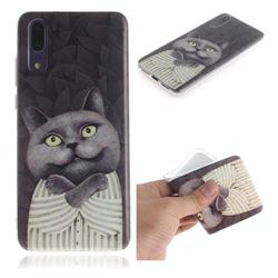 Cat Embrace IMD Soft TPU Cell Phone Back Cover for Huawei P20