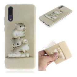 Three Squirrels IMD Soft TPU Cell Phone Back Cover for Huawei P20