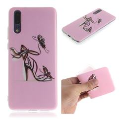 Butterfly High Heels IMD Soft TPU Cell Phone Back Cover for Huawei P20
