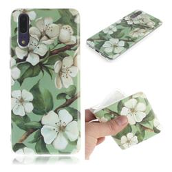 Watercolor Flower IMD Soft TPU Cell Phone Back Cover for Huawei P20