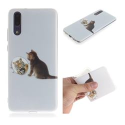 Cat and Tiger IMD Soft TPU Cell Phone Back Cover for Huawei P20