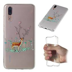 Branches Elk Super Clear Soft TPU Back Cover for Huawei P20