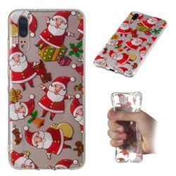 Santa Claus Super Clear Soft TPU Back Cover for Huawei P20