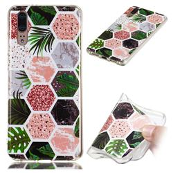 Rainforest Soft TPU Marble Pattern Phone Case for Huawei P20