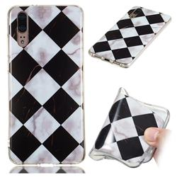 Black and White Matching Soft TPU Marble Pattern Phone Case for Huawei P20