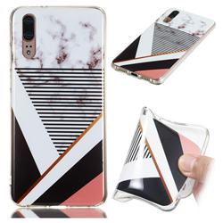 Black white Grey Soft TPU Marble Pattern Phone Case for Huawei P20