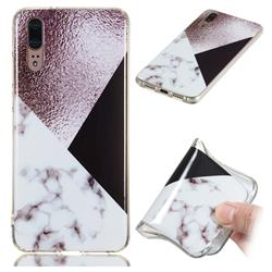 Pinstripe Soft TPU Marble Pattern Phone Case for Huawei P20