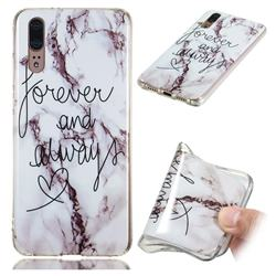 Forever Soft TPU Marble Pattern Phone Case for Huawei P20