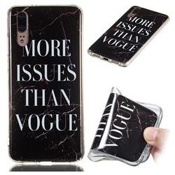 Stylish Black Soft TPU Marble Pattern Phone Case for Huawei P20