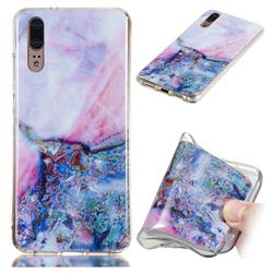 Purple Amber Soft TPU Marble Pattern Phone Case for Huawei P20