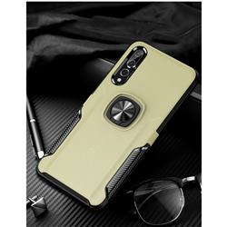 Knight Armor Anti Drop PC + Silicone Invisible Ring Holder Phone Cover for Huawei P20 - Champagne