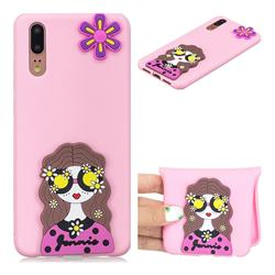 Violet Girl Soft 3D Silicone Case for Huawei P20