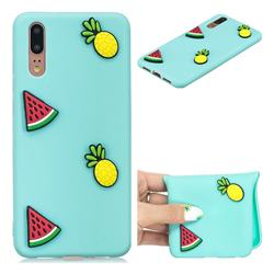 Watermelon Pineapple Soft 3D Silicone Case for Huawei P20