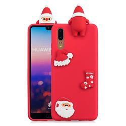 Red Santa Claus Christmas Xmax Soft 3D Silicone Case for Huawei P20