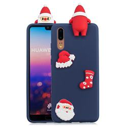 Navy Santa Claus Christmas Xmax Soft 3D Silicone Case for Huawei P20