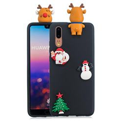 Black Elk Christmas Xmax Soft 3D Silicone Case for Huawei P20