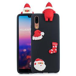 Black Santa Claus Christmas Xmax Soft 3D Silicone Case for Huawei P20