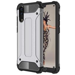 King Kong Armor Premium Shockproof Dual Layer Rugged Hard Cover for Huawei P20 - Silver Grey