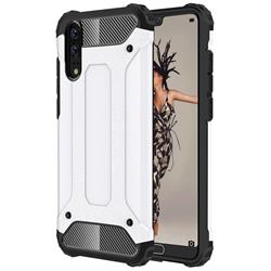 King Kong Armor Premium Shockproof Dual Layer Rugged Hard Cover for Huawei P20 - White