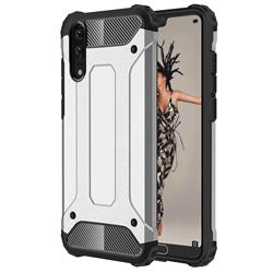 King Kong Armor Premium Shockproof Dual Layer Rugged Hard Cover for Huawei P20 - Technology Silver