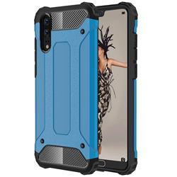 King Kong Armor Premium Shockproof Dual Layer Rugged Hard Cover for Huawei P20 - Sky Blue