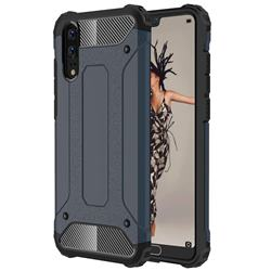 King Kong Armor Premium Shockproof Dual Layer Rugged Hard Cover for Huawei P20 - Navy