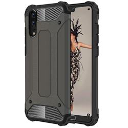 King Kong Armor Premium Shockproof Dual Layer Rugged Hard Cover for Huawei P20 - Bronze