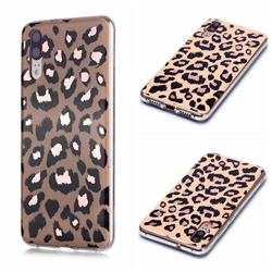 Leopard Galvanized Rose Gold Marble Phone Back Cover for Huawei P20