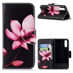 Lotus Flower Leather Wallet Case for Huawei P20
