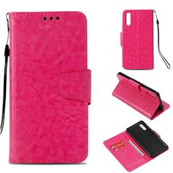 Retro Phantom Smooth PU Leather Wallet Holster Case for Huawei P20 - Rose
