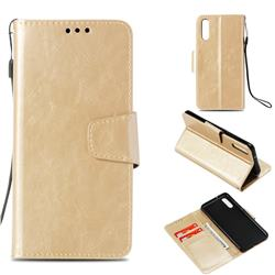 Retro Phantom Smooth PU Leather Wallet Holster Case for Huawei P20 - Champagne