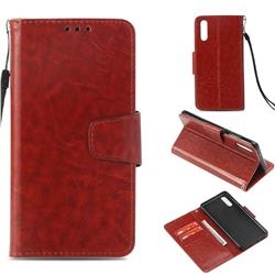 Retro Phantom Smooth PU Leather Wallet Holster Case for Huawei P20 - Brown