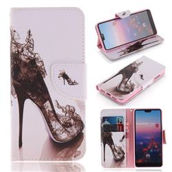 High Heels PU Leather Wallet Case for Huawei P20