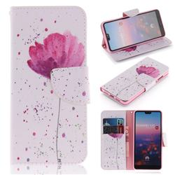 Purple Orchid PU Leather Wallet Case for Huawei P20