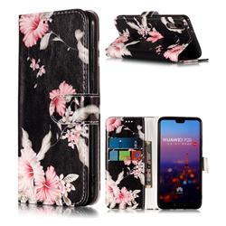 Azalea Flower PU Leather Wallet Case for Huawei P20