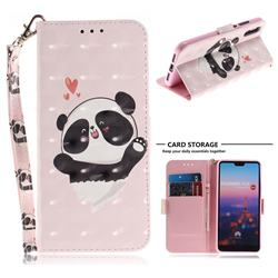 Heart Cat 3D Painted Leather Wallet Phone Case for Huawei P20