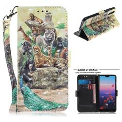 Beast Zoo 3D Painted Leather Wallet Phone Case for Huawei P20