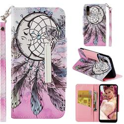 Angel Monternet Big Metal Buckle PU Leather Wallet Phone Case for Huawei P20