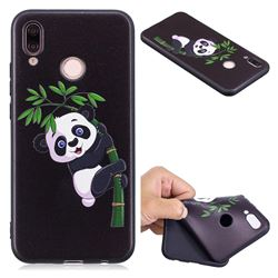 Bamboo Panda 3D Embossed Relief Black Soft Back Cover for Huawei P20 Lite