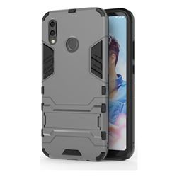 Armor Premium Tactical Grip Kickstand Shockproof Dual Layer Rugged Hard Cover for Huawei P20 Lite - Gray