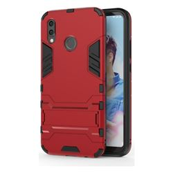Armor Premium Tactical Grip Kickstand Shockproof Dual Layer Rugged Hard Cover for Huawei P20 Lite - Wine Red