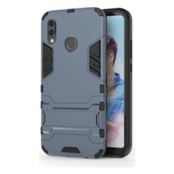 Armor Premium Tactical Grip Kickstand Shockproof Dual Layer Rugged Hard Cover for Huawei P20 Lite - Navy