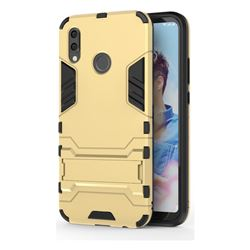 Armor Premium Tactical Grip Kickstand Shockproof Dual Layer Rugged Hard Cover for Huawei P20 Lite - Golden