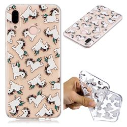 Pony Unicorn Super Clear Soft TPU Back Cover for Huawei P20 Lite